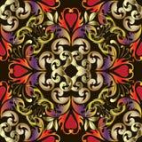 Modèle sans couture de vecteur baroque coloré Ornamental Flor de damassé illustration libre de droits