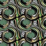 Modèle sans couture de vecteur baroque de spirales Geome ornemental moderne illustration stock