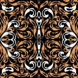 Modèle sans couture de vecteur baroque de style Fond floral de cru Photos stock