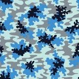 Modèle sans couture de vecteur bleu de Camo Mode Marine Camouflage Background illustration de vecteur