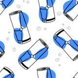 Modèle sans couture de vecteur de boissons d'énergie illustration de vecteur
