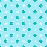 Modèle sans couture de vecteur de boules mignonnes de Noël Images libres de droits