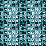 Modèle sans couture de vecteur carré doux, style net Pour le backgrownd, textile Photo stock