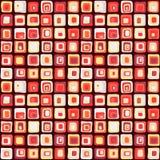 Modèle sans couture de vecteur carré doux, style net Pour le backgrownd, textile Photographie stock