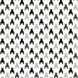 modèle sans couture de vecteur de Chien-dent Copie géométrique dans la couleur noire et blanche Plaid anglais classique de gorge  illustration de vecteur