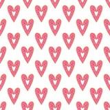 Modèle sans couture de vecteur de coeur simple de butées toriques Fond de jour de valentines illustration stock
