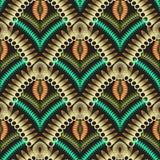 Modèle sans couture de vecteur coloré abstrait de l'ornamental 3d Photos stock