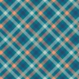 Modèle sans couture de vecteur de couleur bleue de tartan illustration libre de droits