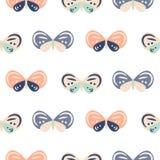 Modèle sans couture de vecteur de couleur en pastel de papillon de bébé mignon de bande dessinée illustration stock