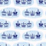 Modèle sans couture de vecteur de couronne royale peu précise de Londres Symbole britannique historique célèbre illustration libre de droits
