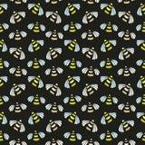 Modèle sans couture de vecteur d'abeille Fond lumineux pour le design d'emballage de miel, le label et les copies de mode illustration de vecteur
