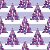 Modèle sans couture de vecteur d'arbre de Noël Fond d'an neuf heureux Texture de vacances de Noël d'hiver pour la conception exté illustration stock