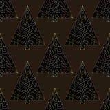 Modèle sans couture de vecteur d'arbre de Noël Fond d'an neuf heureux Texture de vacances de Noël d'hiver pour la conception exté illustration de vecteur