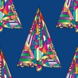 Modèle sans couture de vecteur d'arbre de Noël Fond d'an neuf heureux Texture de vacances de Noël d'hiver pour la conception exté illustration libre de droits