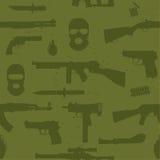 Modèle sans couture de vecteur d'armes d'armée Photographie stock libre de droits