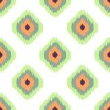 Modèle sans couture de vecteur d'Ikat Géométrique abstrait Photos libres de droits