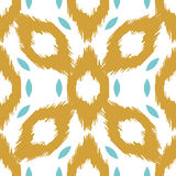 Modèle sans couture de vecteur d'Ikat Géométrique abstrait Photo stock
