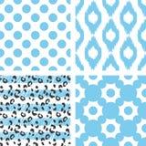 Modèle sans couture de vecteur d'Ikat Géométrique abstrait Image libre de droits