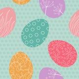Modèle sans couture de vecteur d'oeuf de pâques Photos stock