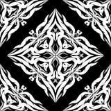 Modèle sans couture de vecteur de damassé Ornam monochrome noir et blanc Photos stock