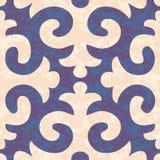 Modèle sans couture de Shyrdak Fleur de Lis Background Images libres de droits