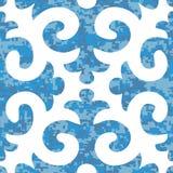 Modèle sans couture de Shyrdak Fleur de Lis Background Photographie stock