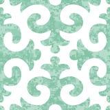 Modèle sans couture de Shyrdak Fleur de Lis Background Image stock