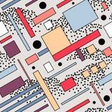 Modèle sans couture de vecteur dans le style de Soviétique de constructivisme Ornement géométrique du vintage 20s de vecteur illustration libre de droits
