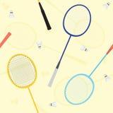 Modèle sans couture de vecteur de badminton Photographie stock libre de droits
