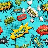 Modèle sans couture de vecteur de bulle comique de la parole Photographie stock libre de droits