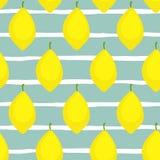 Modèle sans couture de vecteur de citrons frais Image libre de droits