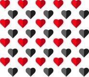 Modèle sans couture de vecteur de coeur sur le fond blanc, graphique d'illustration pour le jour du ` s de Valentine, jour de mèr Image libre de droits