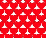 Modèle sans couture de vecteur de coeur sur le fond blanc, graphique d'illustration pour le jour du ` s de Valentine, jour de mèr Photographie stock