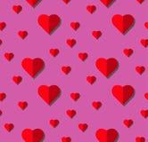 Modèle sans couture de vecteur de coeur sur le fond blanc, graphique d'illustration pour le jour du ` s de Valentine, jour de mèr Photo libre de droits