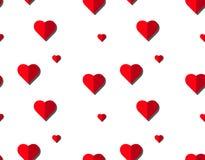 Modèle sans couture de vecteur de coeur sur le fond blanc, graphique d'illustration pour le jour du ` s de Valentine, jour de mèr Images stock