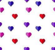 Modèle sans couture de vecteur de coeur sur le fond blanc, graphique d'illustration pour le jour du ` s de Valentine, jour de mèr Photos stock