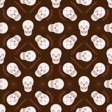 Modèle sans couture de vecteur de crâne de sucre illustration libre de droits