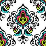 Modèle sans couture de vecteur de damassé de luxe floral Image stock