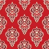 Modèle sans couture de vecteur de damassé florish Image libre de droits