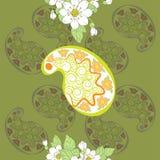 Modèle sans couture de vecteur de floral et de Paisley Photo libre de droits