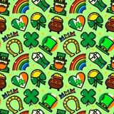 Modèle sans couture de vecteur de jour de St Patricks Photo stock