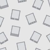 Modèle sans couture de vecteur de lecteur d'EBook Image libre de droits
