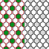 Modèle sans couture de vecteur de nid d'abeilles Fond géométrique Image libre de droits
