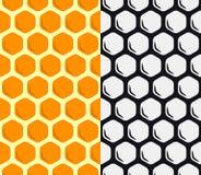 Modèle sans couture de vecteur de nid d'abeilles Fond géométrique Images libres de droits
