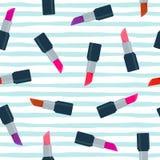Modèle sans couture de vecteur de rouges à lèvres Photographie stock libre de droits