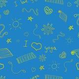 Modèle sans couture de vecteur de yoga Photographie stock