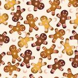 Modèle sans couture de vecteur des biscuits Photographie stock