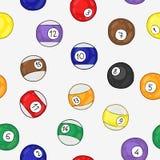Modèle sans couture de vecteur des boules de billard Images libres de droits