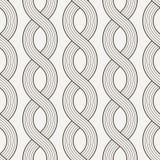 Modèle sans couture de vecteur des cordes entrelacées Images libres de droits