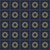 Modèle sans couture de vecteur des fleurs abstraites dans la couleur foncée subtile illustration de vecteur
